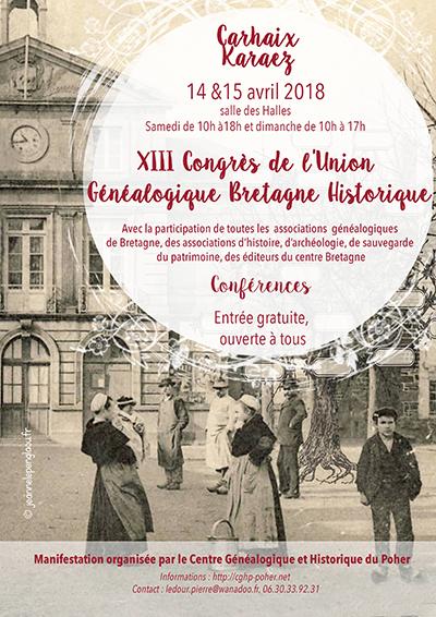 Réalisation pour le Centre Généalogique et Historique du Poher (2018)